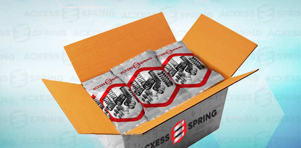 bulk compression springs individually bagged inside a box