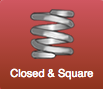 closed and square ends