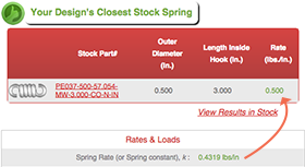 closest spring in stock