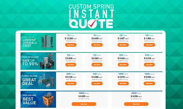 coil springs manufacturers instant spring quote tool