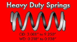 heavy duty spring sizes
