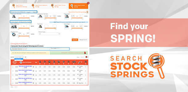stock conical spring catalog search