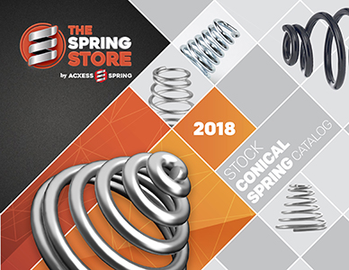 stock conical spring catalog cover