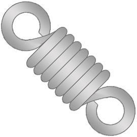 stock music wire extension springs